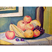 Vintage Oil Painting Cezanne Influence Still Life signed