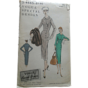 SOLD Vintage 1956 Vogue SPECIAL DESIGN Stylish Fitted Dress Sewing Pattern uncut