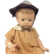 """1930s 19"""" Effanbee Patsy Composition Doll in original dress"""