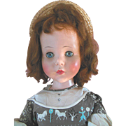"Sweet Sue 32"" Playpal Doll Size Hard Plastic Walker with Auburn Hair"