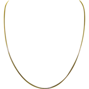 SOLD Estate 14K Yellow Gold 18 Inch Snake Chain Necklace Italy