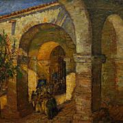David Tauszky  The Procession-Capistrano  20x24 oil on canvas