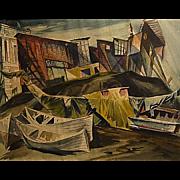 John De Cuir   Boats and Shacks
