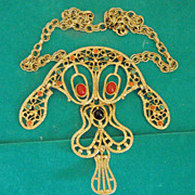 Vintage move- able articulated necklace
