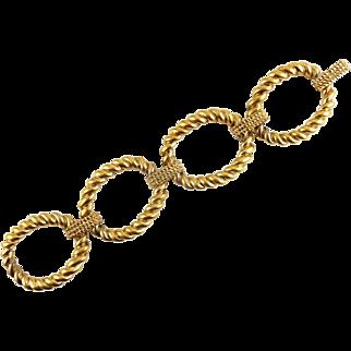 Ralph Lauren Wide Rope-Twist Oval Links Bracelet