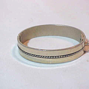 Whiting & Davis Silver Bangle Bracelet Marked Excellent small Wrist or Child