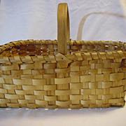 Old Hand Made Deep Gathering Basket