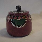 SALE Round Box  Wood Inlay  w/ Mother of Pearl & Wood Trinket Jewelry