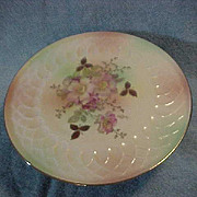 Vintage Hand Painted Floral Footed Cake Plate Marked Schumann Arzberg