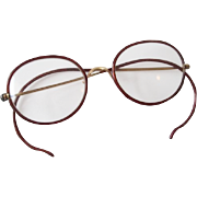 Antique Victorian Tortoise Shell Eyeglasses Spectacles