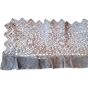 Antique Lace Trim Net Needle Lace Irish Rose 24 Inches Doll Clothing