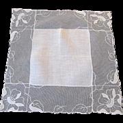 Antique Net Lace Hanky Hankie Bridal Wedding