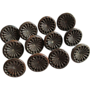 SOLD Antique Victorian Steel Buttons Small Set of 12
