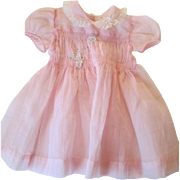 Girls Pink Dress Vintage 1950s Nylon Valentine's Day Easter 2T