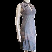 Sexy Bodycon Disco Dress Vintage 1970s Lavender Metallic Stretch S