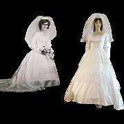 Hovland Swanson Wedding Dress Veil Vintage 1960s Hoop Skirt Receipt Original Photo