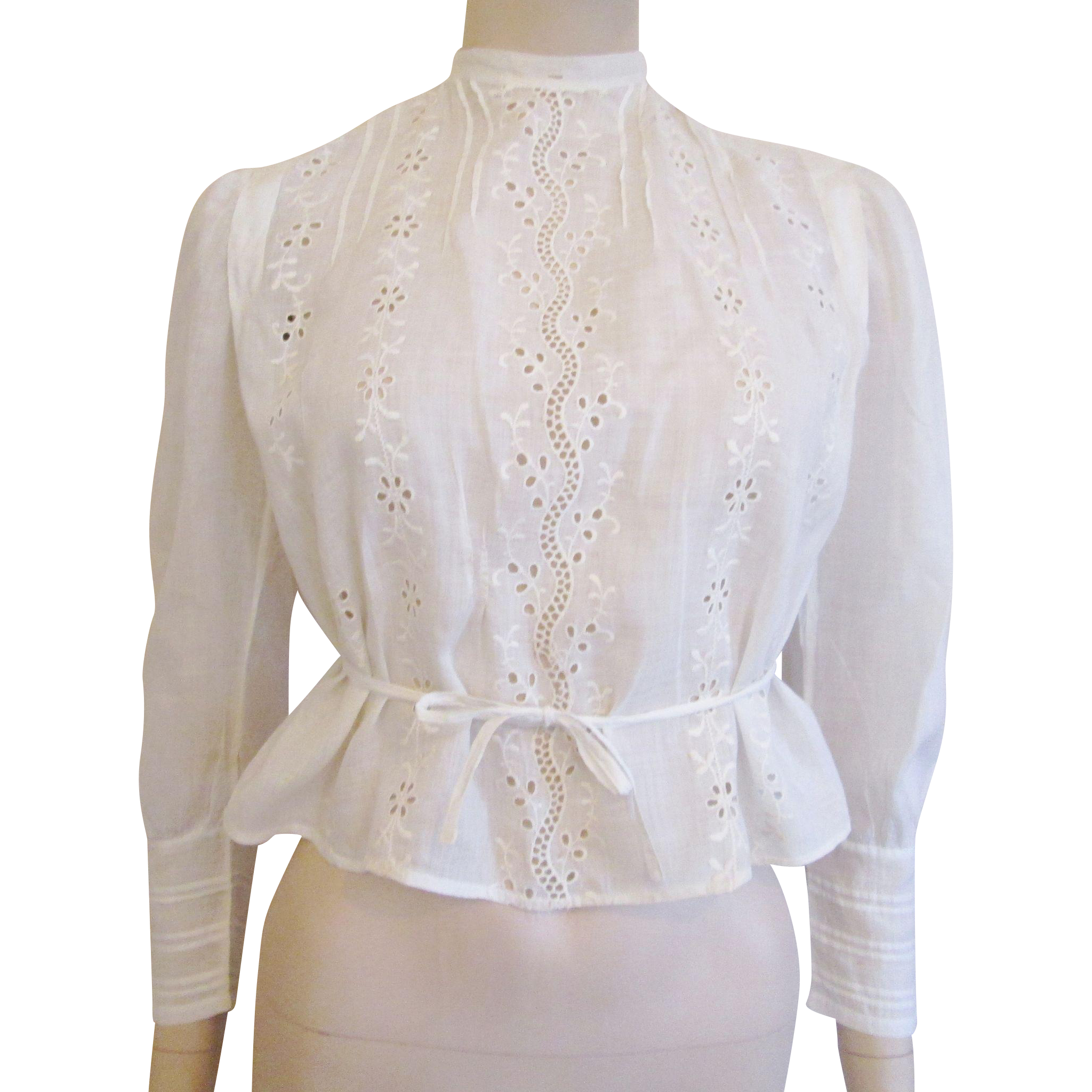 White Cotton Lace Blouse 63