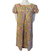 Tent Dress Vintage 1960s Psychedelic Print