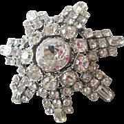Dazzling Vintage 1950s Rhinestone Pin Brooch Jewelry Accessory