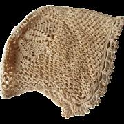 SOLD Baby Bonnet Antique Lace Baby Large Doll Hat