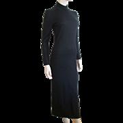 REDUCED Sweater Dress Black Bombshell Vintage 1980's Nina Leonard XS