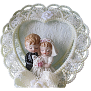 SOLD Cake Topper Porcelain Dolls Vintage 1980s Wedding Original Box