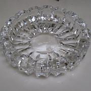 Vintage Cut Crystal Dish and/or Ashtray