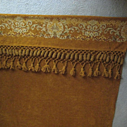 SALE Victorian Chenille Drape or Portiere with Large Tassels