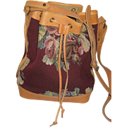Large 1980's Ralph Lauren Floral Tapestry Bucket Bag