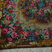 Victorian Mohair Table Cover with Tons of Roses & Flowers