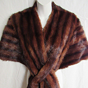 1940's Mink Stole with Criss Cross Front