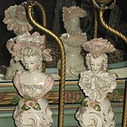 Pair of Vintage C. 40's Cordey Three-Quarter Figural Lamps-18th Century Clothing
