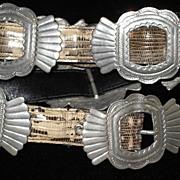 Vintage Ann Turk Snakeskin Concho Belt-Never Used