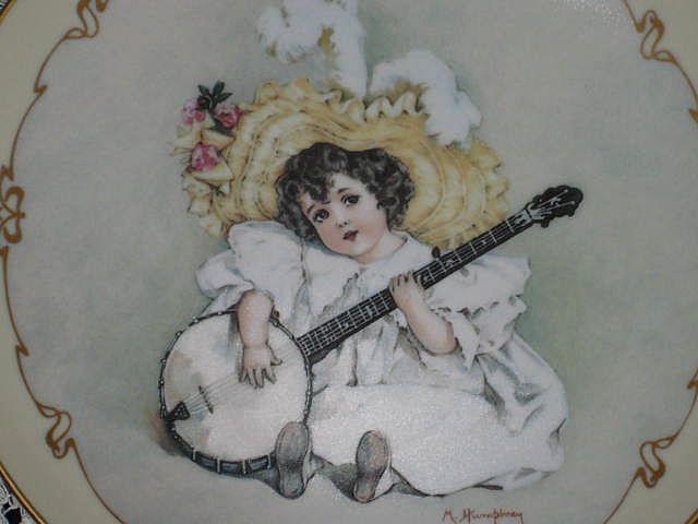 "Maud Humphrey ""Susanna"" Porcelain Collector Plate-1990-The Hamilton Collection"