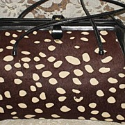 SALE Vintage 1960's Judith Leiber Spotted Calfskin Purse