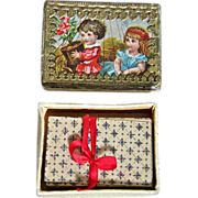 SALE Wonderful Antique Miniature Playing Cards with Box