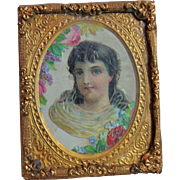Elegant Antique Framed Miniature Picture