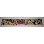 c1891 Roses Yard Long Print Virginia Janus Chromolithograph Rose Flower