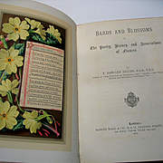 c1877 Bards and Blossoms Poetry History of Flowers Frederick Edward Hulme First Edition Fine B