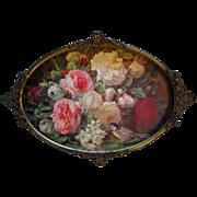 Vintage Cabbage Roses Print Fragrance in Bloom Jean Baptiste Robie Antique 1890s Victorian ...