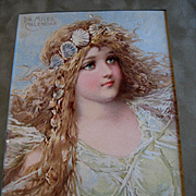 c1890s Frances Brundage Mermaid Girl Lady Sea Shell Chromolithograph Print Ocean Antique Victo