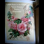 c1886 Poets in the Garden Book Horticulture Gardening Botanical Herb Flower Illustrated ...