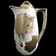 Antique chocolate pot Royal Austria Gutherz c. 1898