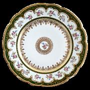 GDA Limoges porcelain dinner plate gold foiling with florals
