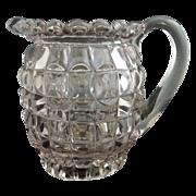 Antique glass cream pitcher Late Block Duncan  c.1889