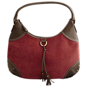 Tommy Hilfiger shoulder bag purse brushed corduroy c. 1970s