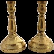 Vintage dollhouse brass candlesticks miniature