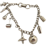 Vintage WWII charm bracelet c. 1940s