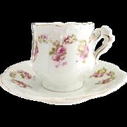 Victorian demitasse chocolate cup Hermann Ohme porcelain