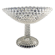 Columbia Glass hobnail compote c. 1870s
